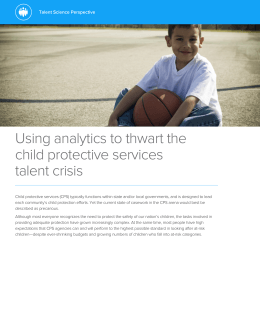 Using analytics to thwart the child protective services talent crisis