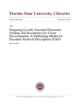Preparing Locally Encoded Electronic Finding Aid Inventories for
