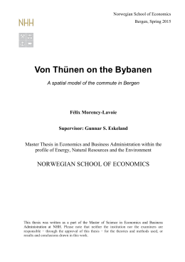 4. Chapter 3: A von Thünen model of the Commute