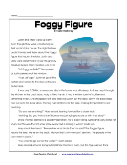 Foggy Figure - Super Teacher Worksheets