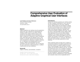 Comprehensive User Evaluation of Adaptive Graphical User Interfaces
