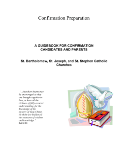 a guidebook for confirmation candidates and