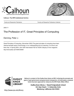 Great Principles of Computing - Calhoun: The NPS Institutional