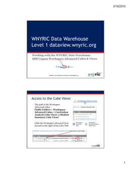 WNYRIC Data Warehouse Level 1 dataview.wnyric.org