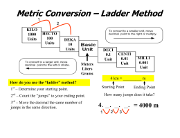 Metric Conversion – Ladder Method
