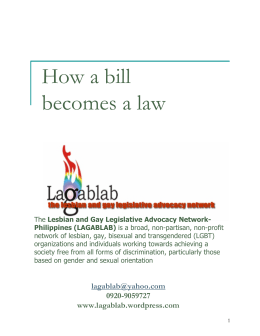 How a bill becomes a law - LAGABLAB