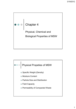 Chapter 2 Physical, Chemical and Biological Properties of MSW