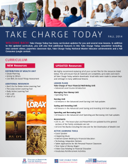 take charge today fall 2014 - the Take Charge America Institute