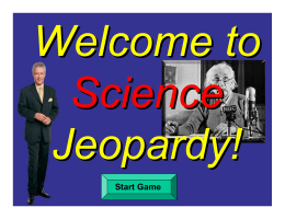 Science Jeopardy Review muscular skeletal