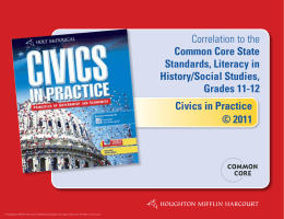 Civics in Practice © 2011 Correlation to the Common Core State