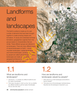 Chapter 1 – Landforms and Landscapes