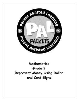 Mathematics Grade 2 Represent Money Using Dollar and Cent Signs