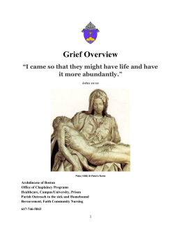 Grief Overview - Archdiocese of Boston