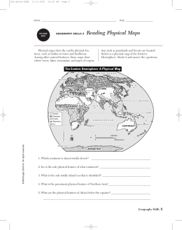 The Eastern Hemisphere: A Physical Map