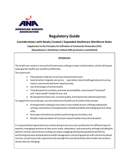 Regulatory Guide - American Nurses Association