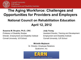 The Aging Workforce: Challenges and