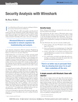 Security Analysis with Wireshark