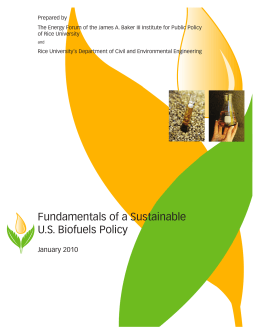 Fundamentals of a Sustainable US Biofuels Policy