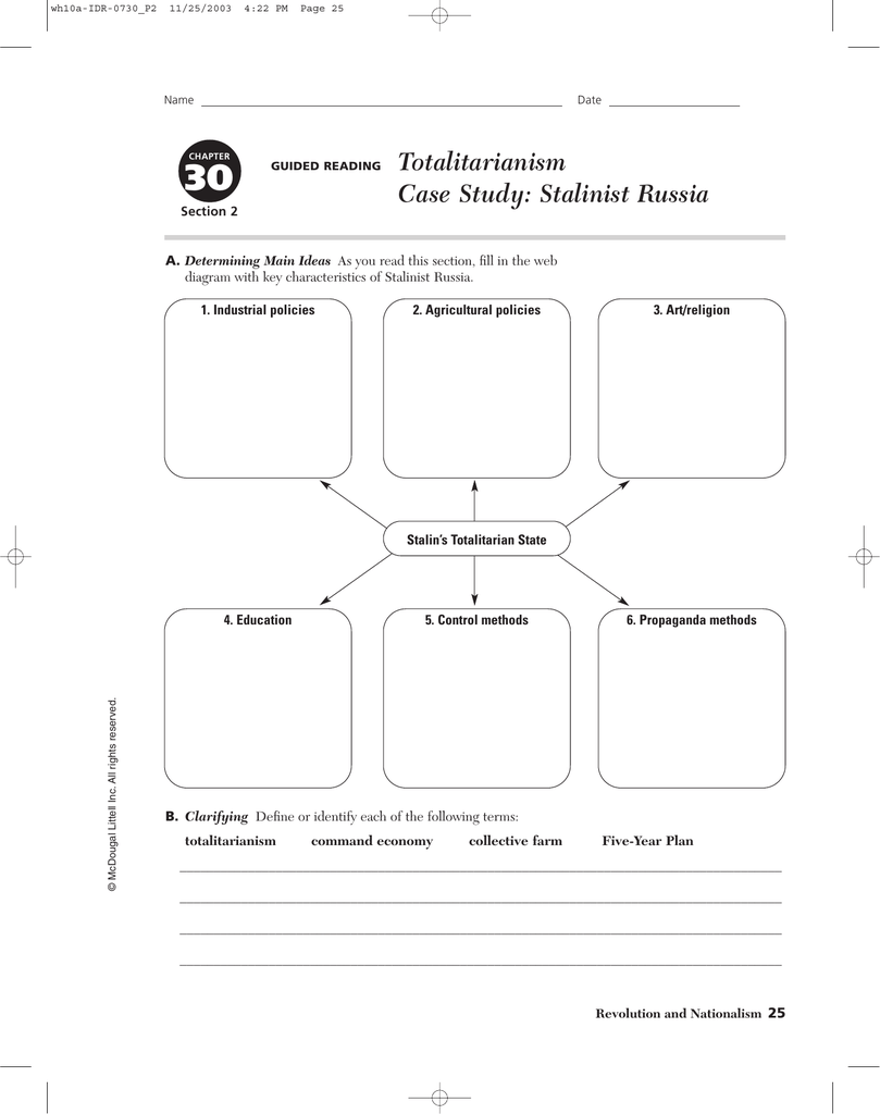 totalitarianism case study stalinist russia guided reading