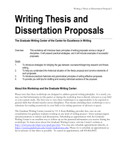 write a master thesis proposal You will write a thesis proposal that evolves into your thesis writing a good proposal is an important first step to success proposals will differ, but there are.