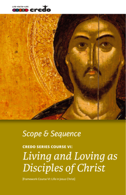 Living and Loving as Disciples of Christ - Credo Series