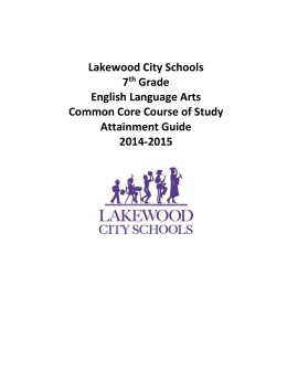 Seventh Grade - Lakewood City School District