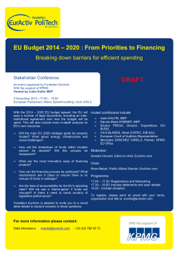 Financing EU Priorities 2014-2020