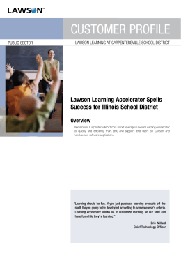 Lawson Learning Accelerator