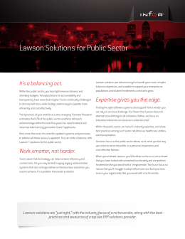 Lawson Solutions for Public Sector