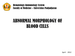abnormal morphology of blood cells