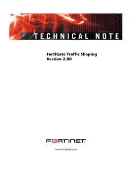 FortiGate Traffic Shaping Technical Note