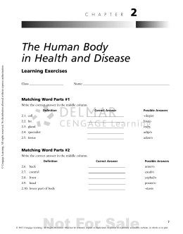 2 The Human Body in Health and Disease