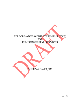 performance work statement (pws) for environmental