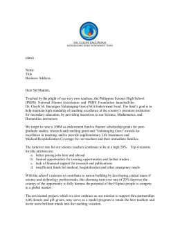 NG Solicitation Letter Template