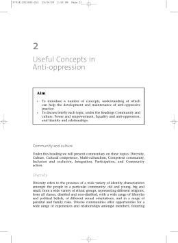 Useful Concepts in Anti