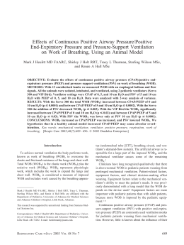 Effects of Continuous Positive Airway Pressure