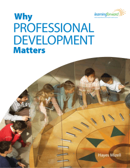Why Professional Development Matters