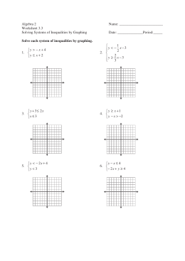 Worksheet 3.3 Solving Systems of Inequalities by Graphing Date