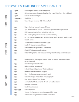 ROCKWELL`S TIMELINE OF AMERICAN LIFE
