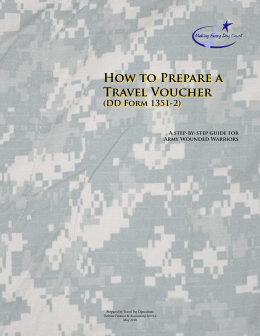 How to Prepare a Travel Voucher (DD Form