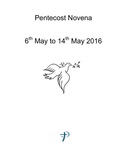 Pentecost Novena 6 May to 14 May 2016