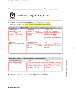 GUIDED READING Tang and Song China