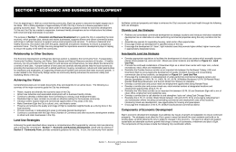 Section 7 – Economic and Business Development