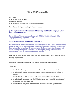 EDUC 2332 Lesson Plan - St. Edwards University Sites