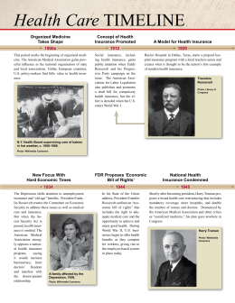 Health Care TIMELINE - Annenberg Classroom