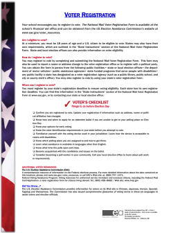 voter registration - Education Affiliates