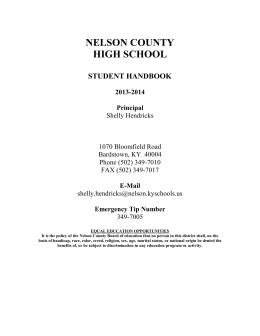 Student Handbook - Nelson County High School
