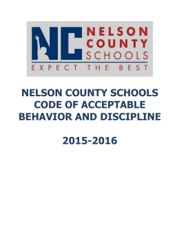 nelson county schools code of acceptable behavior and discipline
