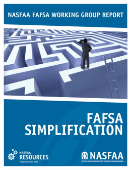 NASFAA FAFSA Working Group Report