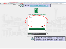 Steps for viewing Schedule thru KFUPM portal